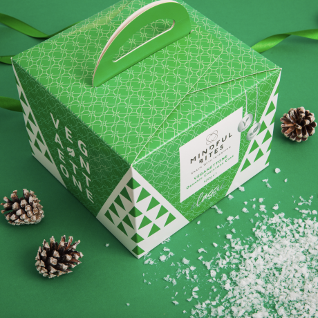 Chocolate Vegan Panettone with Merry Xmas Nut Butter Gift Box