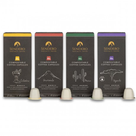 Compostable Coffee Capsules - Taster Box 40 Capsules