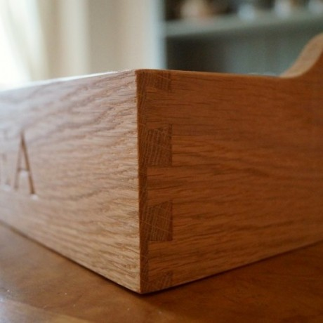 Engraved Wooden Butler's Tray