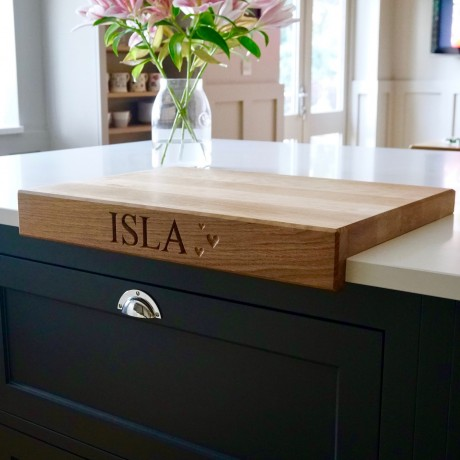 Personalised Wooden Chopping Board with Lip
