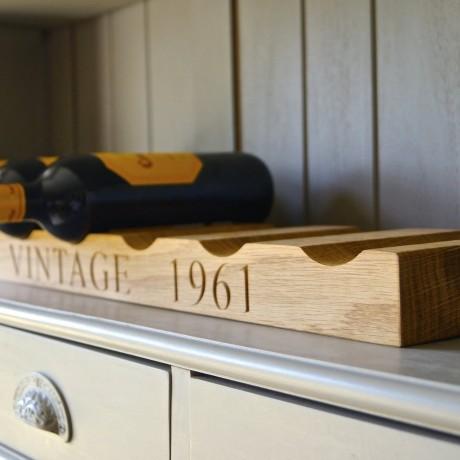 Engraved Wine Rack
