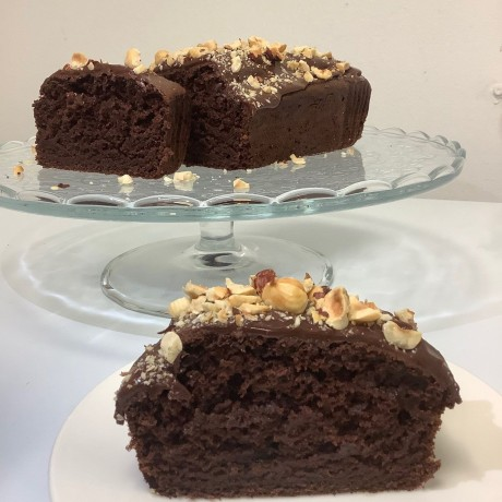 Vegan Chocolate Orange & Hazelnut Cake