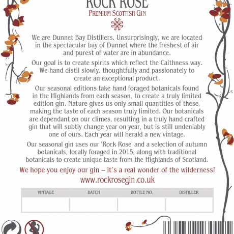 Rock Rose Gin Autumn Edition