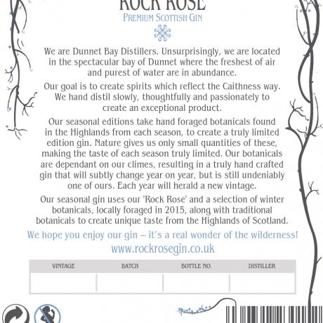 Rock Rose Gin Winter Edition