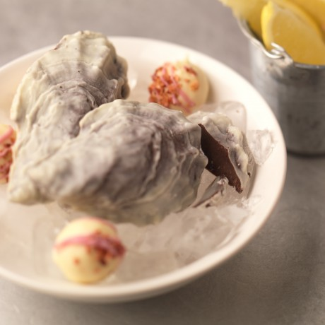 chocolate oysters and champagne