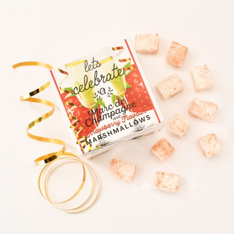 Let's Celebrate Marc de Champagne & Strawberry Marshmallows (Vegan)