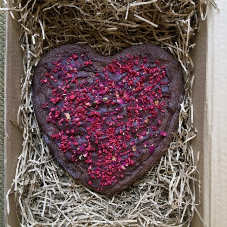 Valentine's Heart Brownie (Vegan)