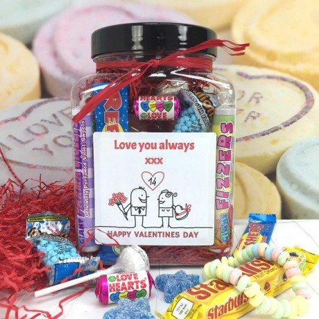 cocoapod chocolates Personalised Retro Vegan Sweets Jar