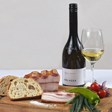 Bacon with white wine