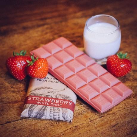 Strawberry Vegan White Chocolate Bar