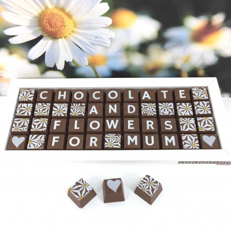 Cocoapod Personalised Chocolates and Flowers Gift for Mum