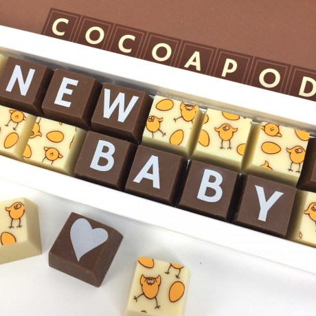 Cocoapod chocolates NEW BABY Arrival girl boy Chocolate Gift