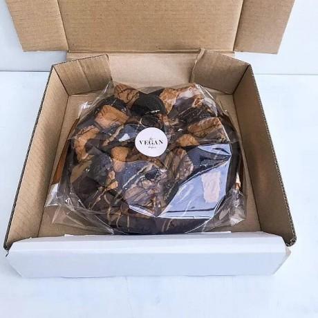"Dark Chocolate Vegan Brownie Pizza (8"")"