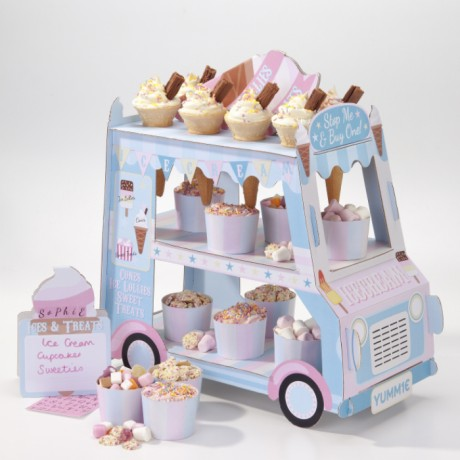Ice Cream Cart Cupcake Stand