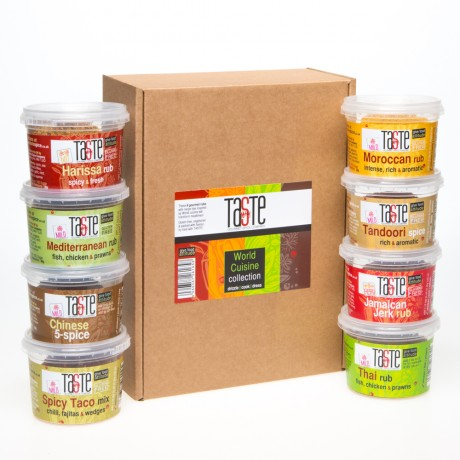 'Taste the World' 8 Rub Hamper