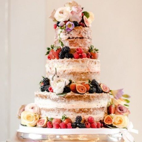 Naked Wedding Cake. Image by Big Eye Photography