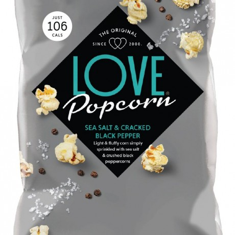 LOVE Popcorn Sea Salt & Cracked Black Pepper