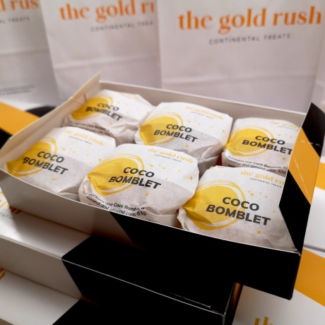 Coco Bomblets   Authentic Portuguese Coconut Pastries (Box of 6)