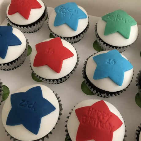 Personalised Message Star Cupcake Gift Box
