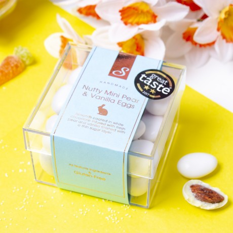 Vanilla & Pear Almonds- White Chocolate Coated Almonds with Unique Flavours. Cube Box [CLONE]