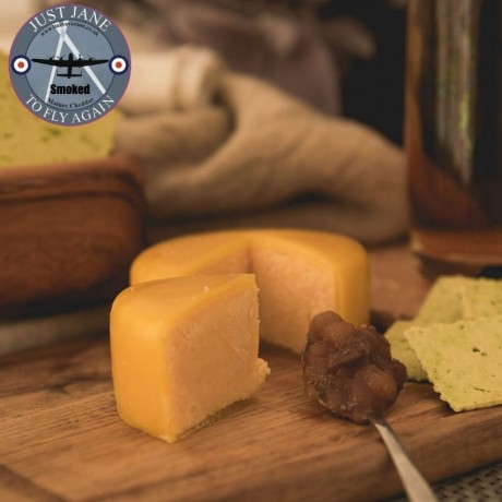 Just Jane Smoked Cheddar Cheese Truckle (200g)
