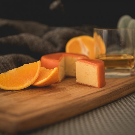 Orange and Whisky Cheddar Truckle (200g)