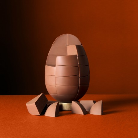 Solid Belgian Milk Chocolate with Caramel Egg
