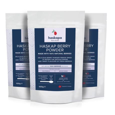 Haskapa | Freeze Dried Haskap Berry Powder (Pack of 3)