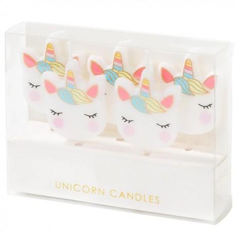 unicorn cake candles