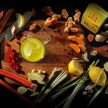 TEA REX - Fresh Turmeric, Ginger, Lemon &Black Pepper Infusion