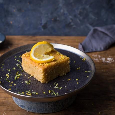 Lemon & lime polenta cake ( serving suggestion)