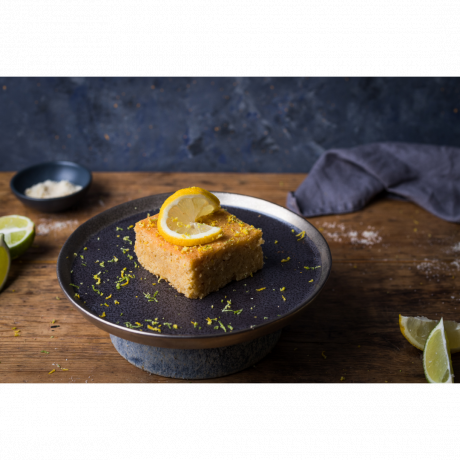 lemon & lime polenta cake (serving suggestion)