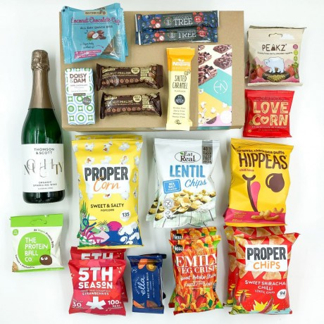 Vegan Snack Box with Thomson & Scott Sparkling Wine