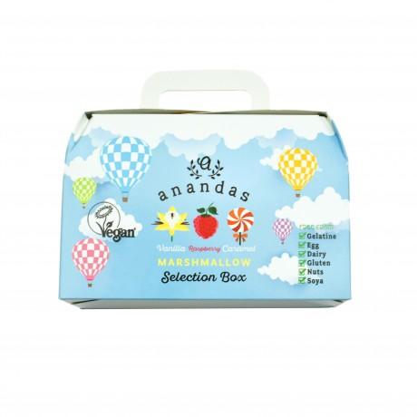 Gourmet Vegan Marshmallow Gift Box - Vanilla, Raspberry & Caramel