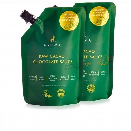 Vegan and Organic Raw Cacao Chocolate Sauce Taster Pack