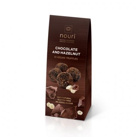 Vegan truffles Chocolate and Hazelnut (box of 10)