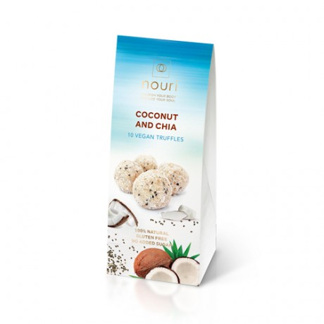 Vegan truffles Coconut and Chia (box of 10)