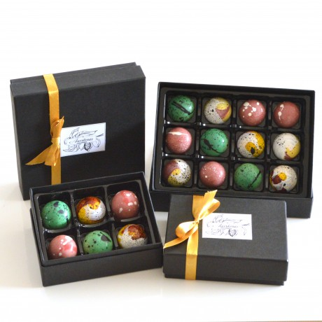 Vegan artisan bonbons by Anastassia Chocolates
