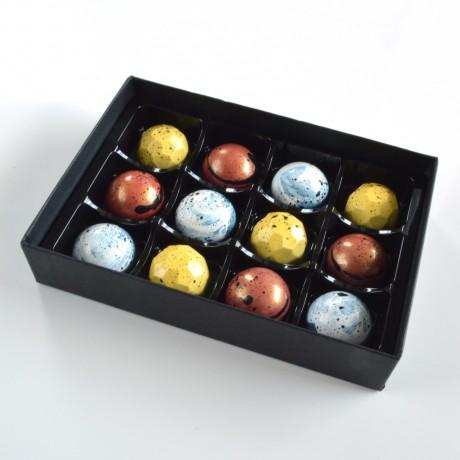 Dark chocolate non-dairy truffles in gift box made in London