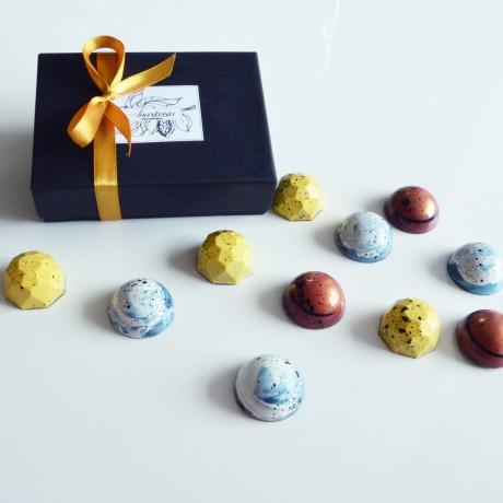 Vegan handmade chocolates in gift box