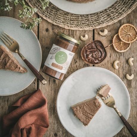 No bake vegan cacao orange cheesecake