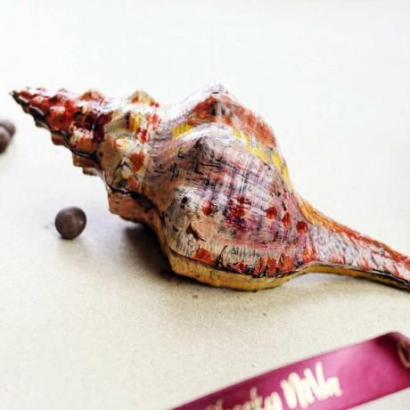 Delicious Hand Painted Vegan Dark Chocolate Seashell