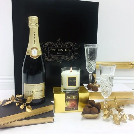 Luxury Louis Roederer Champagne and Candle Gift Box