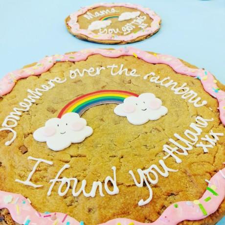 "12"" Rainbow Giant Cookie Card"