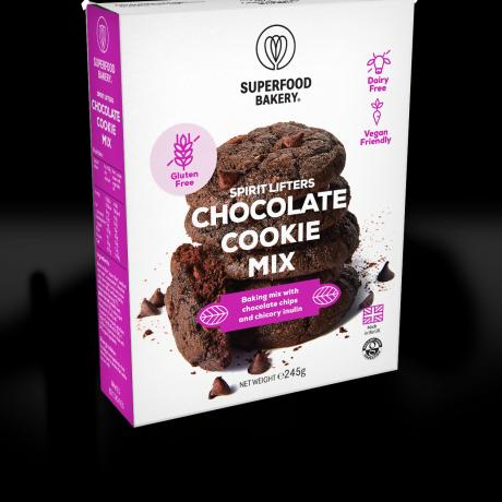 Organic Chocolate Chip Cookie Mix   High Fibre & Gluten-Free