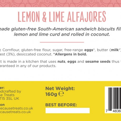 Authentic South-American Alfajores | Lemon & Lime (Pack of 4)