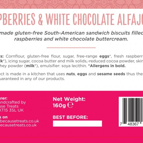 Raspberries & White Chocolate Alfajores