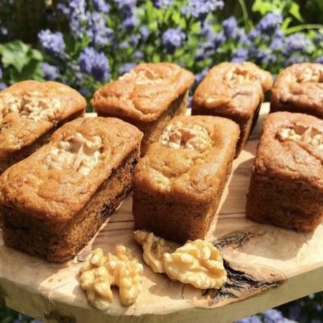 Vegan Banana, Dark Chocolate & Walnut Mini Loaves