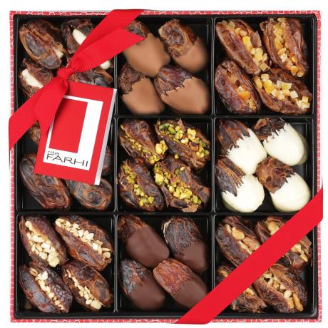 Rita Farhi Belgian Chocolate & Stuffed Medjool Date Selection in a Gift Box