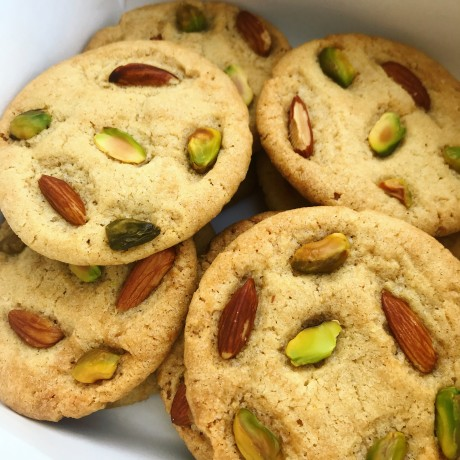 Vegan Almond & Pistachio Biscuits